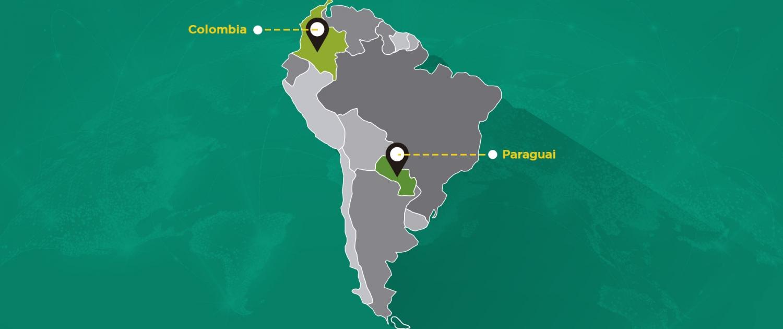 2020   Início das operações com escritório na Colômbia e Paraguai